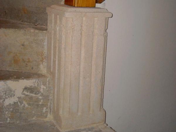 escalier en pierre bois et fer forg. Black Bedroom Furniture Sets. Home Design Ideas
