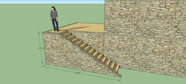 escalier terrasse princiaple