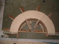 cornice arch mold of wood