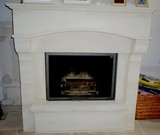 stone fireplace creation