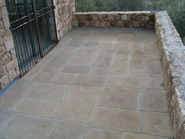poured in place granit paving